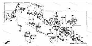 Honda Atv 2003 Oem Parts Diagram For Rear Brake Caliper