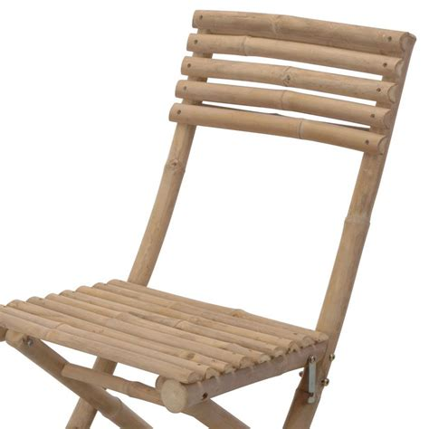 chaise bambou lot de 2 chaises de jardin pliantes bambou chaise et