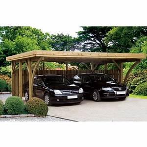 Garage Voiture En Bois : garages et carports en bois abri voiture ~ Dallasstarsshop.com Idées de Décoration