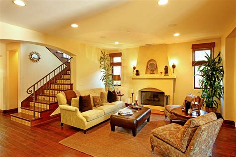 Spanish Colonial Revival-mediterranean-living Room