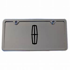 Lincoln Chrome License Plate Tag And Stainless Steel Frame