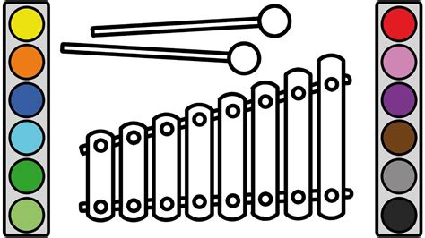 Coloring Xylophone by Coloring Pages Xylophone Coloring Page 2019 Vocal R