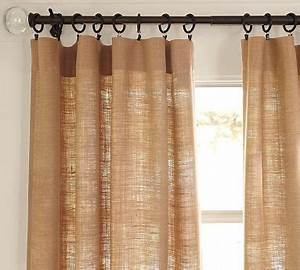 Burlap deep pocket drape contemporary curtains by for Burlap drapes pottery barn