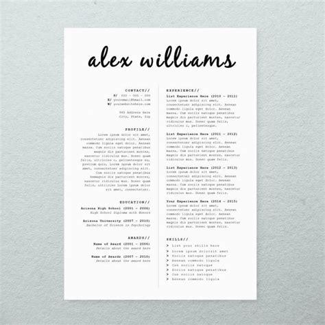 cv design cover letter printable resume template