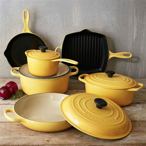 cookware creuset le glass stoves iron cast piece kitchen sets signature cooking bakeware honey things pans pots pot appliances cherry