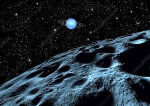 Neptune from Nereid - Stock Image R420/0094 - Science ...