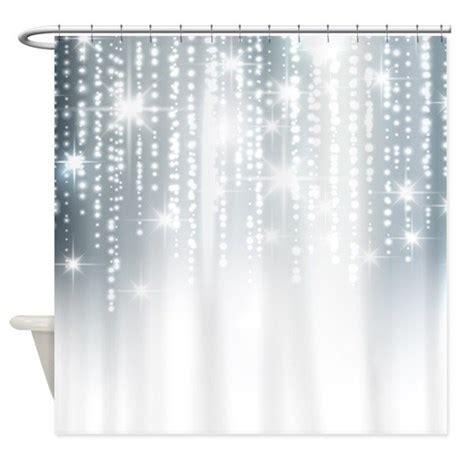 silver shower curtain silver glitter shower curtain by admin cp62726417