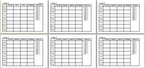 trim healthy mama weekly food log template 4 6 weeks meal planner ms word editable template word