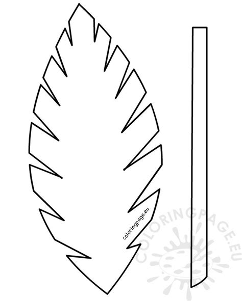 easter template palm leaf palm sunday school lesson coloring page