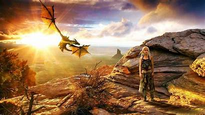 Clarke Fire Emilia Daenerys Targaryen Series Tv