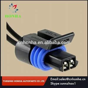 12162193 Female Electric Connector Black Waterproof 2 Pins