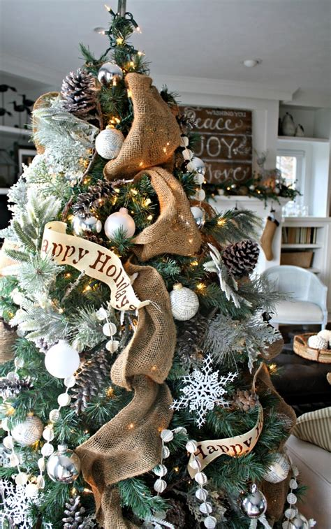 rustic christmas decor source pinterest