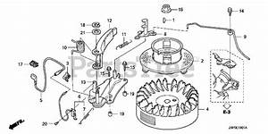 Honda Parts On The Flywheel  2  Diagram For Gxv160 Uh2