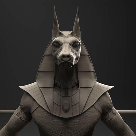 model sphinx anubis egyptian god cgtrader