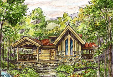 cozy log home plan ww architectural designs house plans