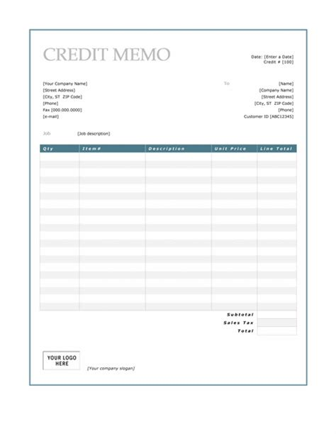 credit note archives microsoft word templates