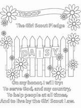 Daisy Coloring Scout Flower Pages Gaddynippercrayons Law Scouts sketch template