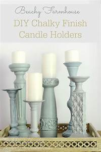Americana Chalky Finish Candle Holders Hoosier Homemade