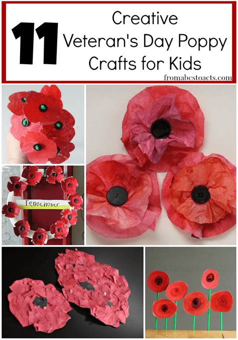 11 creative veteran s day poppy crafts from abcs to acts 543 | Poppy Crafts for Kids