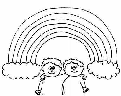 Coloring Pages Rainbow Rainbows Printable