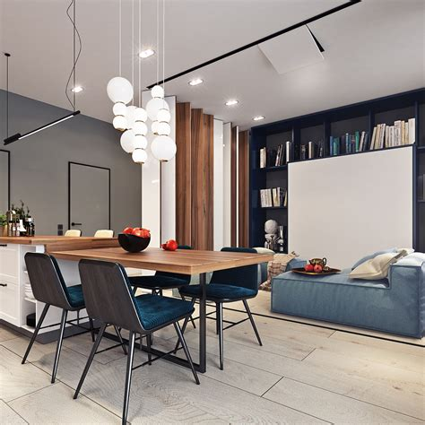 beautiful studio apartment designs combined  modern