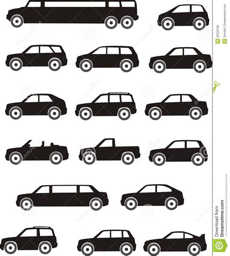 Car Types Stock Vector. Image Of Image, Economical