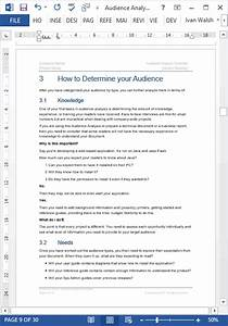 Office Com Templates Word Audience Analysis Template 30 Page Ms Word Ms Excel
