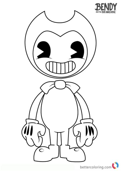 bendy   ink machine coloring pages  printable