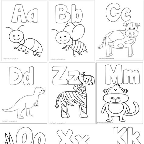 easy peasy alphabet coloring book coloring pages 100 coloring sheets for the whole family 6525