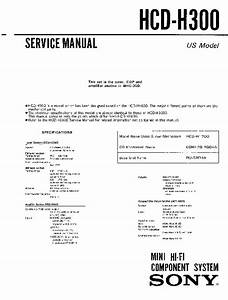 Sony Hcd-h300  Mhc-300 Service Manual