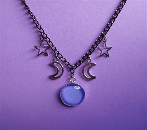 Buy Sofas Uk by Pastel Goth Celestial Necklace Grunge Witchy Jewelry