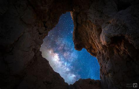 Cave Landscape Rocks Sky Night Stars Milky Way