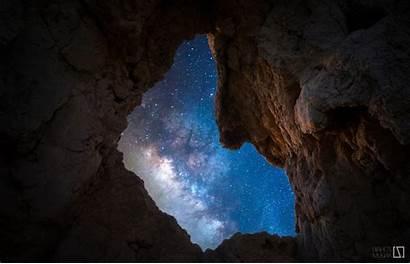 Galaxy Milky Sky Cave Night Way Stars