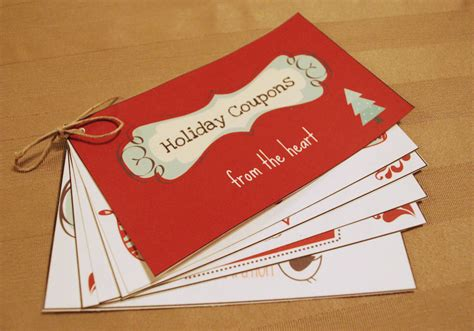 Diy Holiday Coupon Book