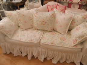 vintage chic furniture schenectady ny shabby chic slipcovered sofa with vintage chenille - Shabby Chic Sofa