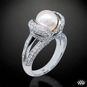 pearl engagement rings With pearl and diamond wedding rings