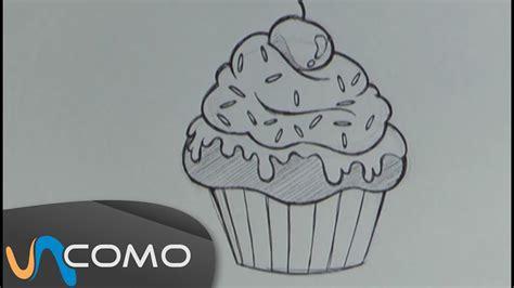 dibujar muffin o cupcake