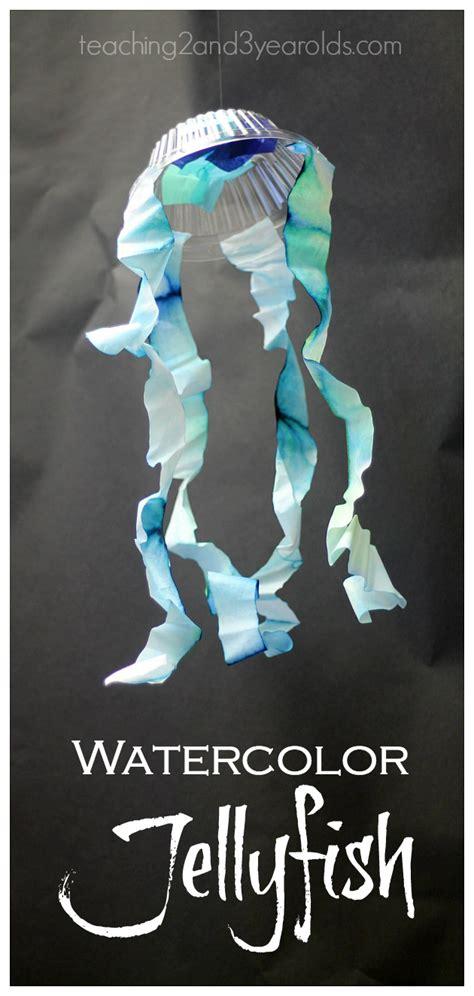 hanging jellyfish craft  preschoolers crafts