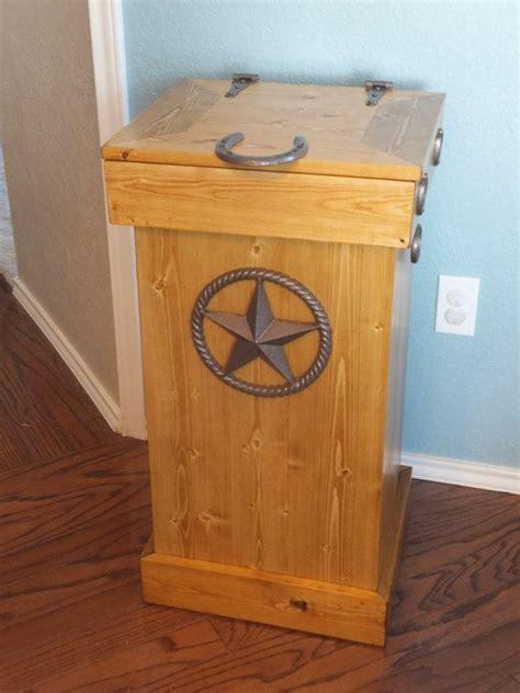 wood trash  storage bin  thhcreations  etsy