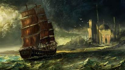 Ship Middle East Drawing Desktop Wallpapers Sea