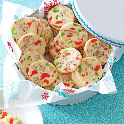 <p>the best christmas cookies look as fun and flavourful as they taste. Cherry Christmas Slices Recipe | Taste of Home