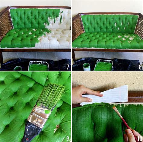 peindre canapé tissu comment relooker un ameublement un tissu bricobistro