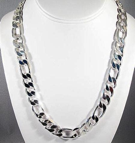 sell   silver fashion mens chain necklace mm
