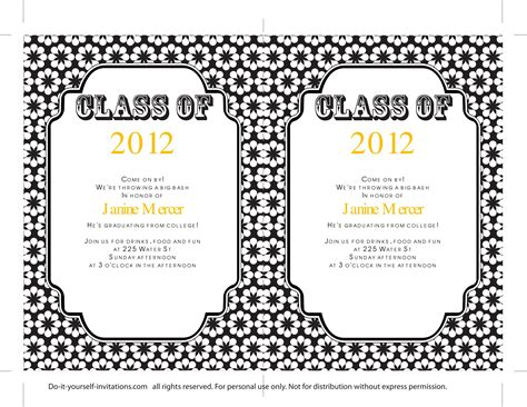 evite templates 40 free graduation invitation templates template lab