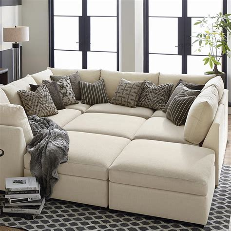 sectional pit sofa beckham upholstered pit sectional living room bassett