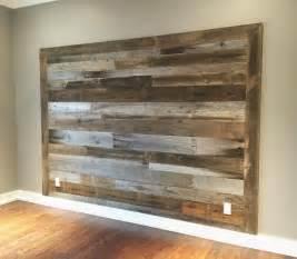 Accent Wall Wood Headboard