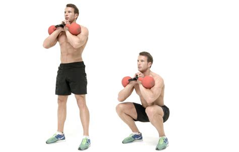 goblet squat dumbbell squats kettlebell kettlebells pick instead fitness weight side easier possible hold position way into