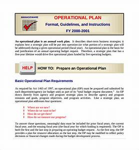 Sample operational plan template 9 free documents in for Operational guidelines template