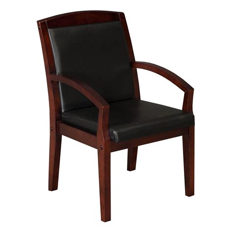 anchor by gosit new executive leather wood side chair