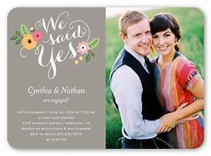 We Said Yes 5x7 Invitation Card Engagement Invitations